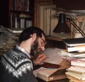 Aan de studie voor de doctoraalscriptie in 1983